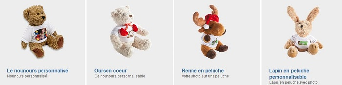 Peluches avec photo