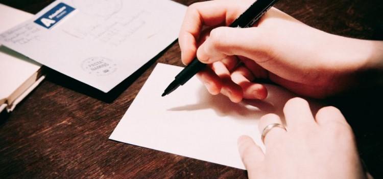 lettre d'amour romantique