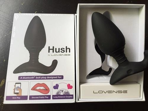 hush butt plug connecte