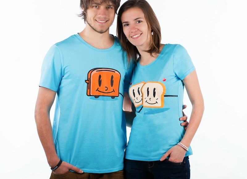 Tshirt Couple de 8