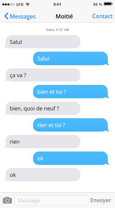 communication texto distance