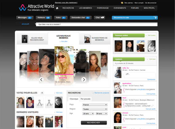 interface attractive world test avis
