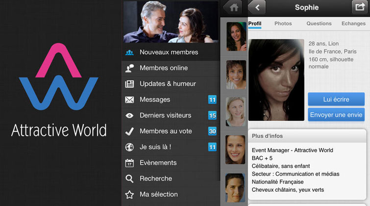 interface mobile attractive world test avis